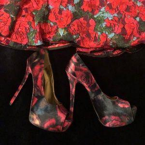 "9 West 5"" rose Valore heels"